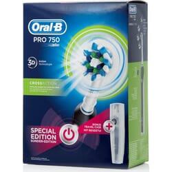 Oral-B Pro 750 CrossAction Special Edition Black + Travel Case