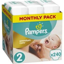 Pampers Premium Care No 2 (4-8kg) 240τμχ