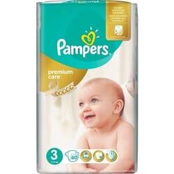 Pampers Premium Care No 3 (5-9kg) 60 τμχ