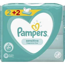 Pampers Sensitive 4x52τμχ