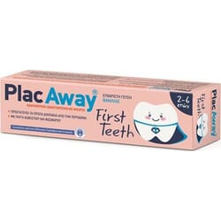 PlacAway First Teeth Παιδική Οδοντόκρεμα 2-6 50ml
