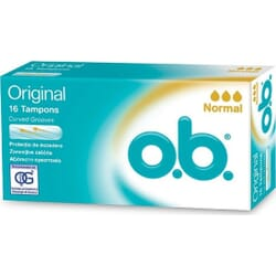 O.B. Original Curved Grooves Normal Tampons 16τμχ