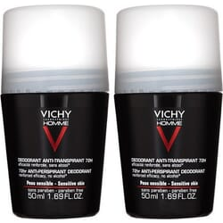 Vichy Homme Deodorant Anti-Transpirant Roll-On 72h 2x50ml