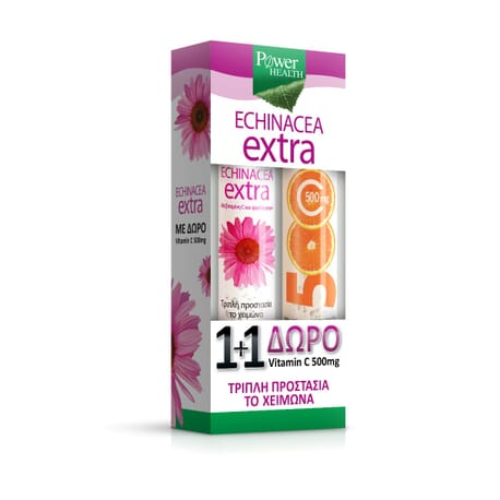 Power Health Echinacea Extra με Στέβια + Δώρο Vitamin C 500mg