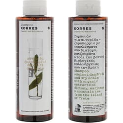Korres Σαμπουάν Για Πιτυρίδα/Ξηροδερμία Δάφνη & Echinacea 2x250ml