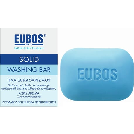 Eubos Blue Solid Washing Bar 125gr