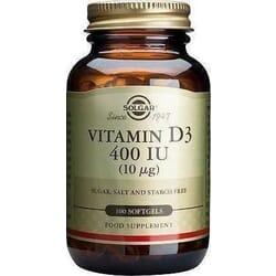 Solgar Vitamin D3 400IU 100 μαλακές κάψουλες