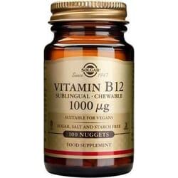Solgar Vitamin B12 1000mcg 100 υπογλώσσια δισκία